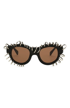 Женские солнцезащитные очки KUB0RAUM черного цвета, арт. L2 BM VS | Фото 3