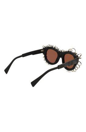 Женские солнцезащитные очки KUB0RAUM черного цвета, арт. L2 BM VS | Фото 4