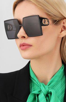Женские солнцезащитные очки DIOR черного цвета, арт. 30M0NTAIGNE 807 2K | Фото 2