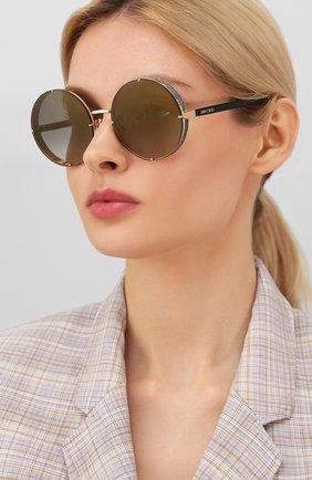 Женские солнцезащитные очки JIMMY CHOO серого цвета, арт. LIL0 RHL | Фото 2