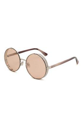 Женские солнцезащитные очки JIMMY CHOO розового цвета, арт. LIL0 YB7 | Фото 1