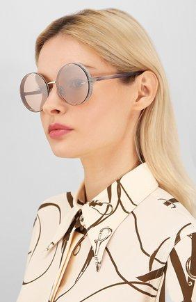Женские солнцезащитные очки JIMMY CHOO розового цвета, арт. LIL0 YB7 | Фото 2