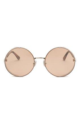 Женские солнцезащитные очки JIMMY CHOO розового цвета, арт. LIL0 YB7 | Фото 3