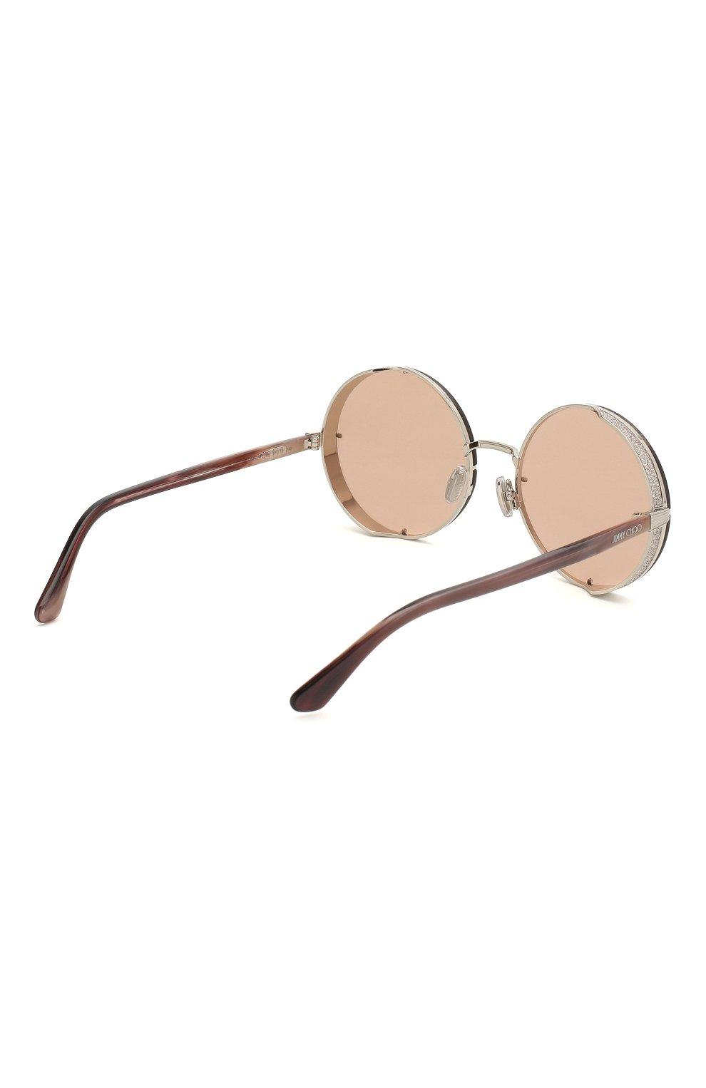 Женские солнцезащитные очки JIMMY CHOO розового цвета, арт. LIL0 YB7 | Фото 4