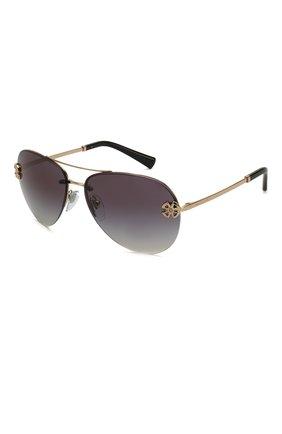 Женские солнцезащитные очки BVLGARI черного цвета, арт. 6137B-20148G | Фото 1