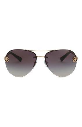 Женские солнцезащитные очки BVLGARI черного цвета, арт. 6137B-20148G | Фото 3
