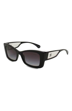 Мужские солнцезащитные очки CHANEL черного цвета, арт. 5430-C501S6   Фото 1