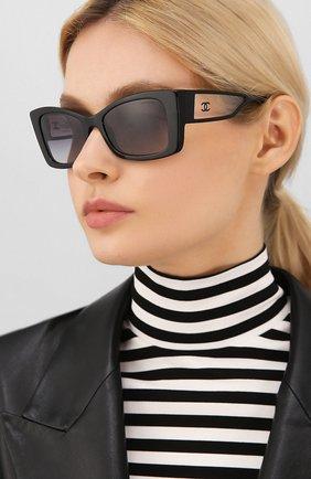 Мужские солнцезащитные очки CHANEL черного цвета, арт. 5430-C501S6   Фото 2