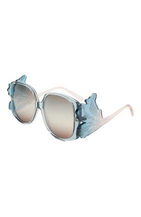 Женские солнцезащитные очки GIORGIO ARMANI голубого цвета, арт. 8137-5855K7 | Фото 1