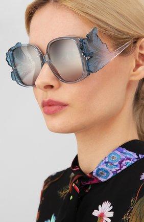 Женские солнцезащитные очки GIORGIO ARMANI голубого цвета, арт. 8137-5855K7 | Фото 2
