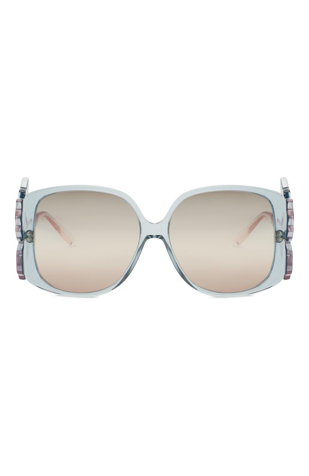 Женские солнцезащитные очки GIORGIO ARMANI голубого цвета, арт. 8137-5855K7 | Фото 3