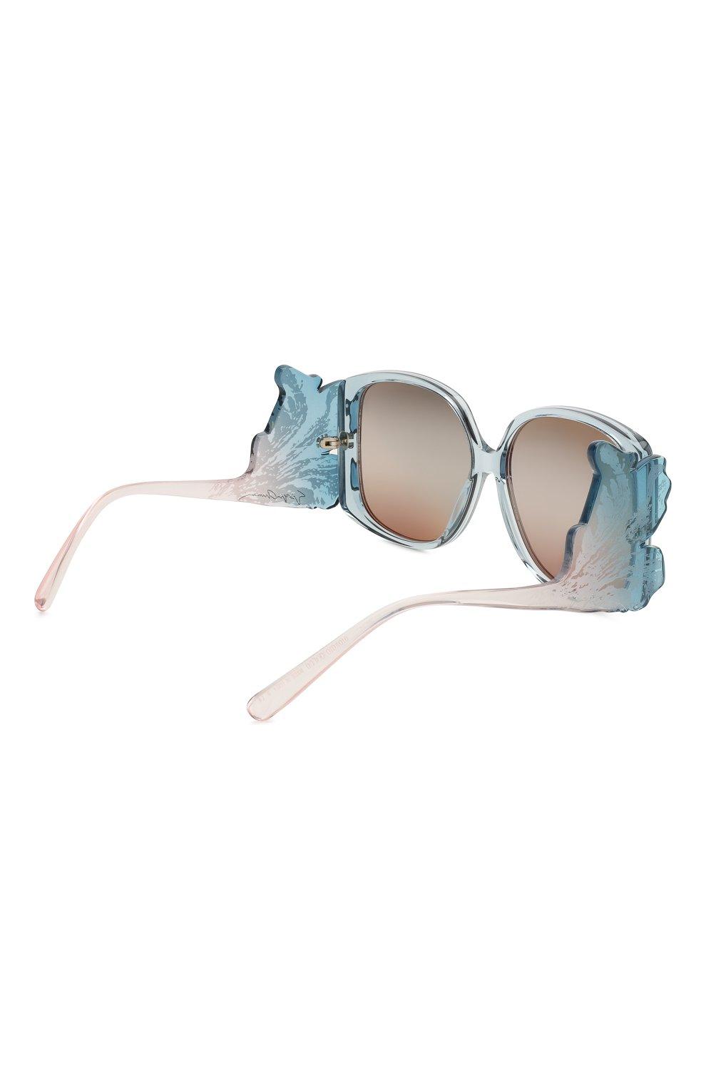 Женские солнцезащитные очки GIORGIO ARMANI голубого цвета, арт. 8137-5855K7 | Фото 4