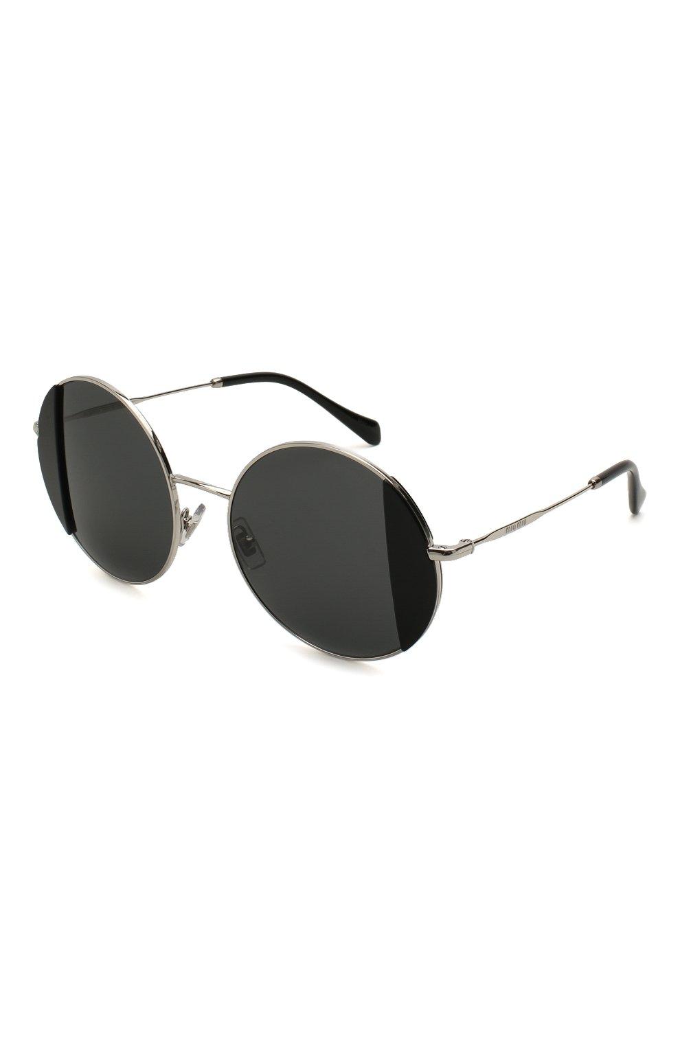 Женские солнцезащитные очки MIU MIU черного цвета, арт. 57VS-1AB5S0 | Фото 1