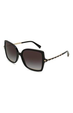 Женские солнцезащитные очки VALENTINO черного цвета, арт. 4072-50018G | Фото 1