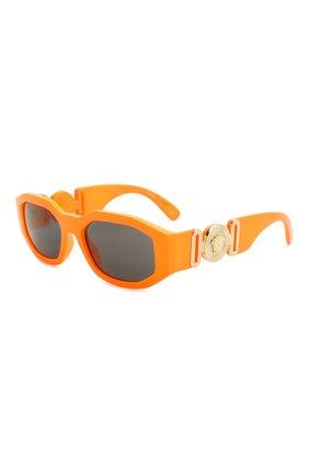 Мужские солнцезащитные очки VERSACE оранжевого цвета, арт. 4361-532087 | Фото 1