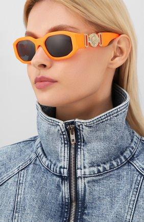 Мужские солнцезащитные очки VERSACE оранжевого цвета, арт. 4361-532087 | Фото 2