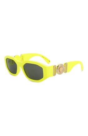 Женские солнцезащитные очки VERSACE желтого цвета, арт. 4361-532187 | Фото 1