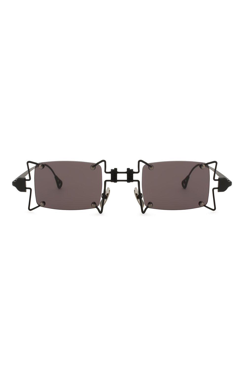 Женские солнцезащитные очки INNERRAUM черного цвета, арт. 099 BM GREY   Фото 3 (Тип очков: С/з; Очки форма: Креативные, Прямоугольные; Оптика Гендер: оптика-унисекс)