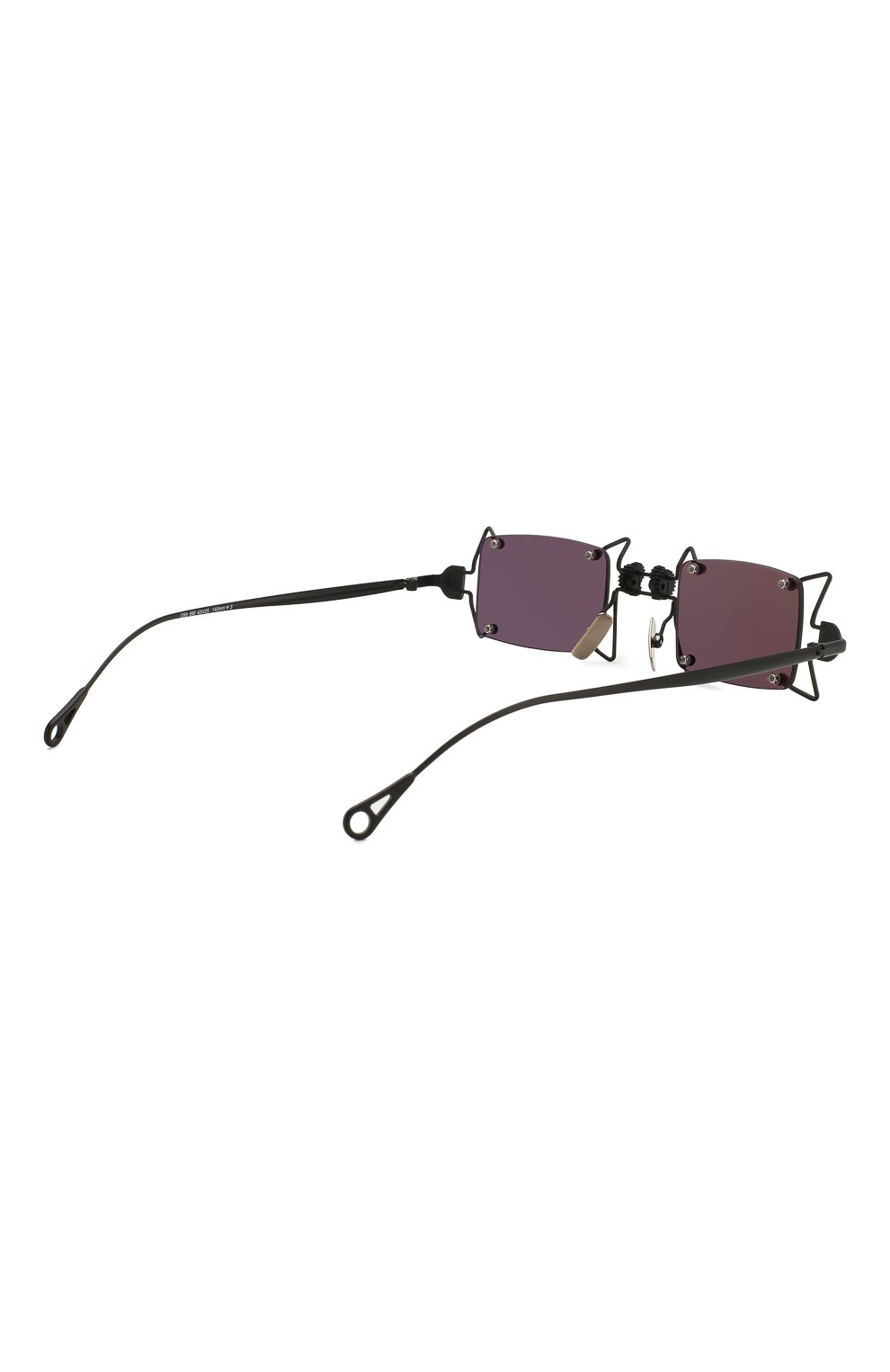 Женские солнцезащитные очки INNERRAUM черного цвета, арт. 099 BM GREY   Фото 4 (Тип очков: С/з; Очки форма: Креативные, Прямоугольные; Оптика Гендер: оптика-унисекс)