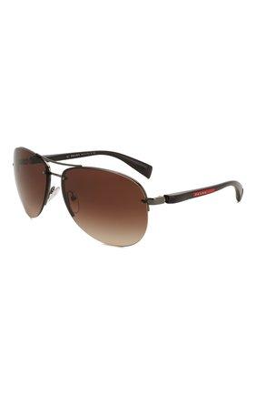 Женские солнцезащитные очки PRADA LINEA ROSSA коричневого цвета, арт. 56MS-5AV6S1   Фото 1