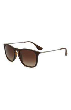 Женские солнцезащитные очки RAY-BAN коричневого цвета, арт. 4187-856/13 | Фото 1