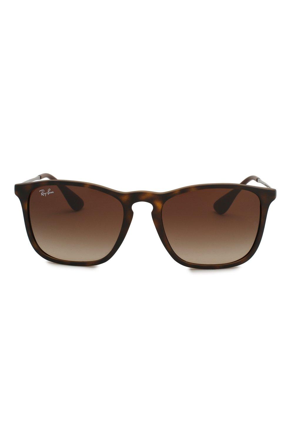 Женские солнцезащитные очки RAY-BAN коричневого цвета, арт. 4187-856/13 | Фото 3