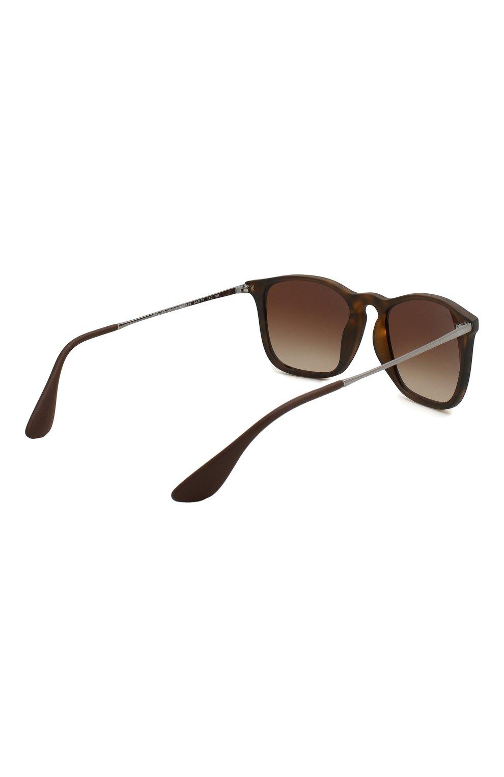 Женские солнцезащитные очки RAY-BAN коричневого цвета, арт. 4187-856/13 | Фото 4