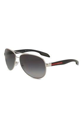 Мужские солнцезащитные очки PRADA LINEA ROSSA черного цвета, арт. 53PS-1BC5W1   Фото 1
