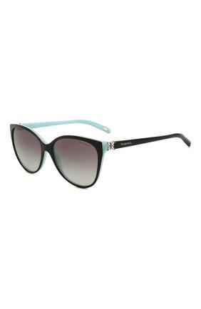 Мужские солнцезащитные очки TIFFANY & CO. черного цвета, арт. 4089B-80553C | Фото 1