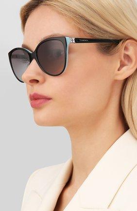 Мужские солнцезащитные очки TIFFANY & CO. черного цвета, арт. 4089B-80553C | Фото 2
