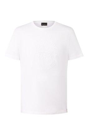 Мужская хлопковая футболка BILLIONAIRE белого цвета, арт. I20C MTK4368 BTE014N | Фото 1