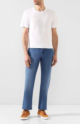 Мужская хлопковая футболка BILLIONAIRE белого цвета, арт. I20C MTK4368 BTE014N | Фото 2