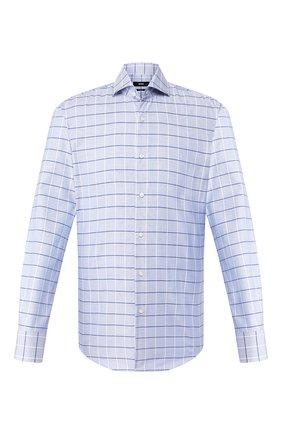 Мужская хлопковая сорочка BOSS голубого цвета, арт. 50433337 | Фото 1