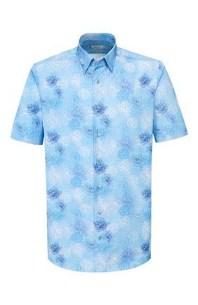 Мужская хлопковая рубашка ZILLI голубого цвета, арт. MFT-00801-03250/RZ03 | Фото 1