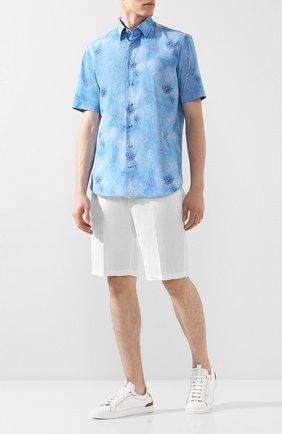 Мужская хлопковая рубашка ZILLI голубого цвета, арт. MFT-00801-03250/RZ03 | Фото 2