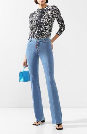 Женские джинсы DSQUARED2 синего цвета, арт. S72LB0274/S30342 | Фото 2