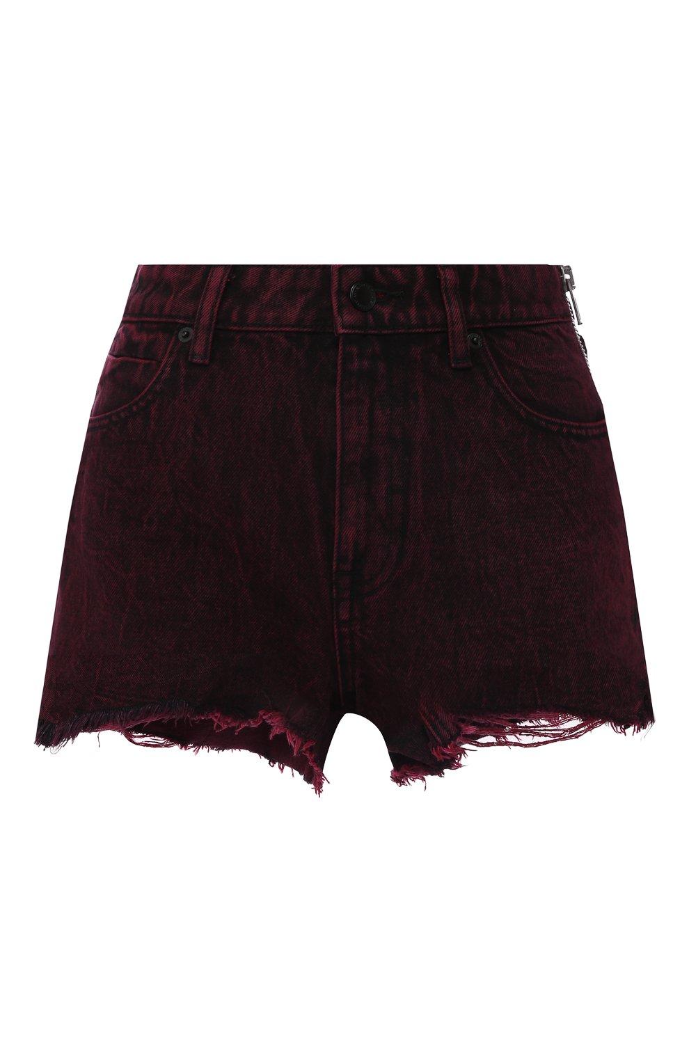 Женские джинсовые шорты ALEXANDERWANG.T розового цвета, арт. 4DC1204689 | Фото 1 (Женское Кросс-КТ: Шорты-одежда; Кросс-КТ: Деним; Длина Ж (юбки, платья, шорты): Мини; Материал внешний: Хлопок; Стили: Кэжуэл)