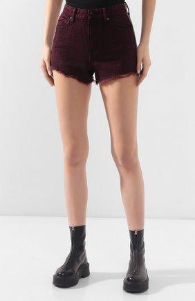 Женские джинсовые шорты ALEXANDERWANG.T розового цвета, арт. 4DC1204689 | Фото 3 (Женское Кросс-КТ: Шорты-одежда; Кросс-КТ: Деним; Длина Ж (юбки, платья, шорты): Мини; Материал внешний: Хлопок; Стили: Кэжуэл)