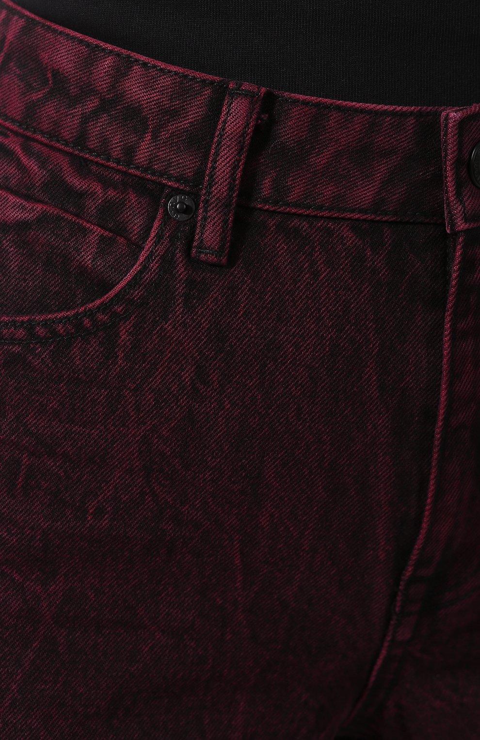 Женские джинсовые шорты ALEXANDERWANG.T розового цвета, арт. 4DC1204689 | Фото 5 (Женское Кросс-КТ: Шорты-одежда; Кросс-КТ: Деним; Длина Ж (юбки, платья, шорты): Мини; Материал внешний: Хлопок; Стили: Кэжуэл)