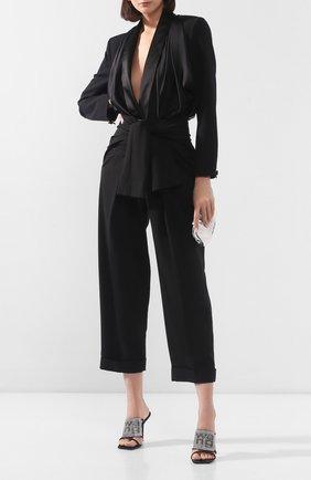 Женские брюки ALEXANDER WANG черного цвета, арт. 1WC1204230 | Фото 2