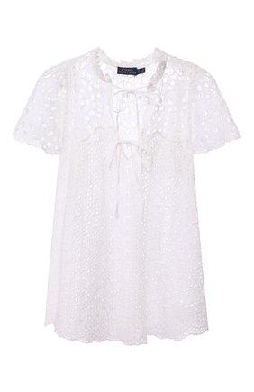 Женская хлопковая блузка POLO RALPH LAUREN белого цвета, арт. 211792572 | Фото 1