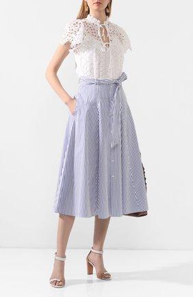 Женская хлопковая блузка POLO RALPH LAUREN белого цвета, арт. 211792572 | Фото 2