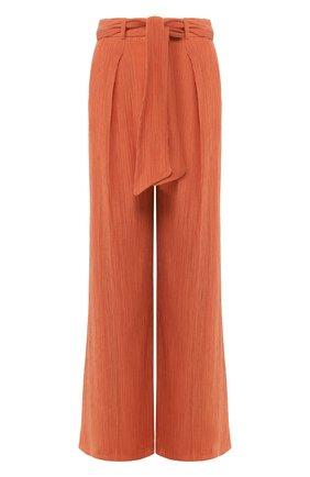 Женские брюки из смеси хлопка и шелка GABRIELA HEARST оранжевого цвета, арт. 220202/T025/40   Фото 1