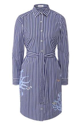 Женское хлопковое платье VAN LAACK синего цвета, арт. KEAS-FPX/171550 | Фото 1
