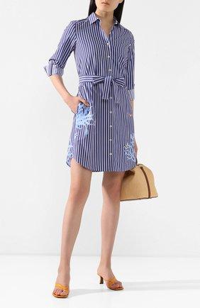 Женское хлопковое платье VAN LAACK синего цвета, арт. KEAS-FPX/171550 | Фото 2
