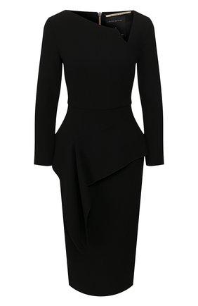 Женское шерстяное платье ROLAND MOURET черного цвета, арт. EW20/S0976/F4044 | Фото 1