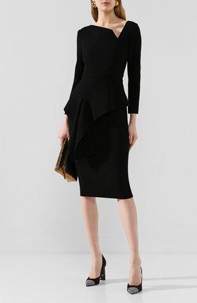Женское шерстяное платье ROLAND MOURET черного цвета, арт. EW20/S0976/F4044 | Фото 2