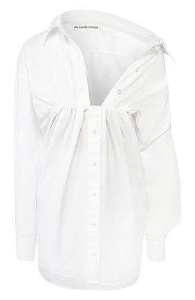 Женская хлопковая рубашка ALEXANDER WANG белого цвета, арт. 1WC1201336 | Фото 1