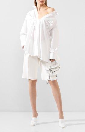 Женская хлопковая рубашка ALEXANDER WANG белого цвета, арт. 1WC1201336 | Фото 2
