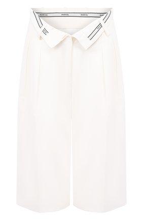 Женские шорты из смеси вискозы и шерсти ALEXANDER WANG белого цвета, арт. 1WC1204257 | Фото 1